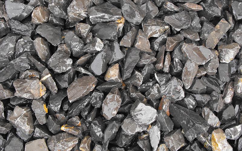 triturado marmol negro intenso