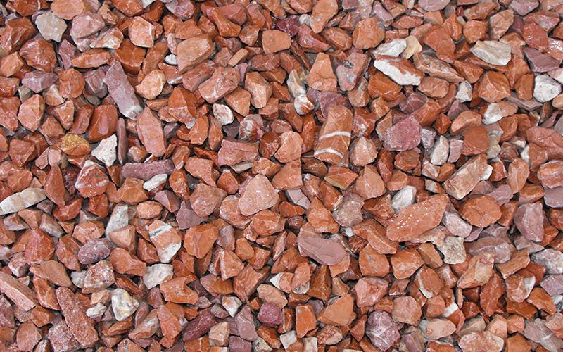 triturado marmol rojo alicante