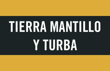 Tierra mantillo y turba