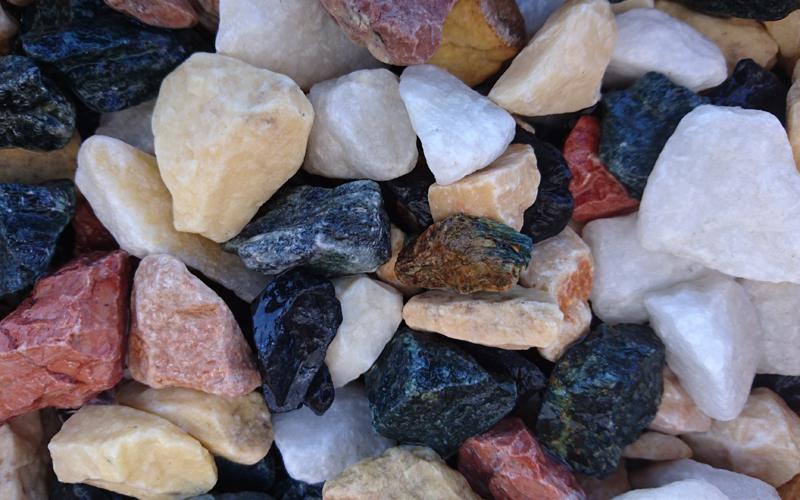 triturado marmol multicolor